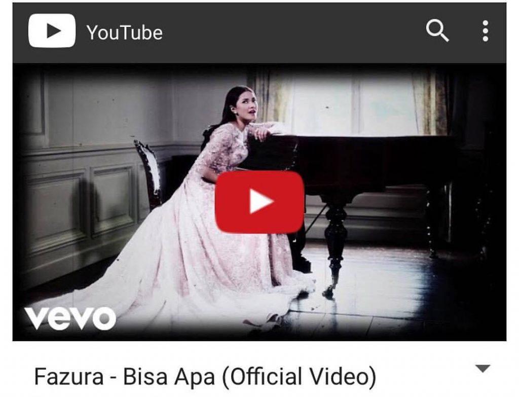 Klip Video Lagu Terbaru Fazura Dapat Lebih Dari 90 Ribu Tontonan Di Youtube